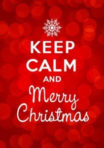 Keep calm and Merry Christmas