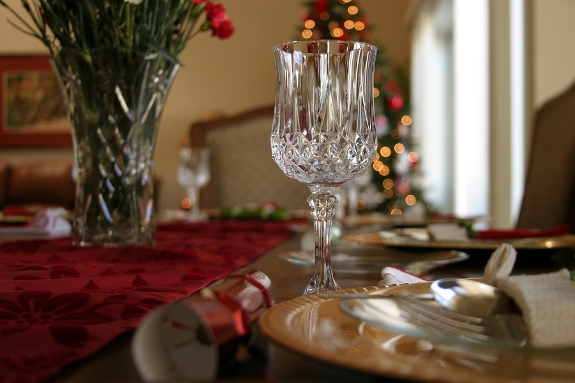 Make It a Crystal Christmas at Your Dinner Table