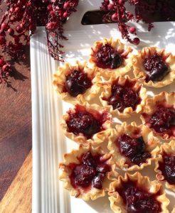 Brie and Dark Cherry Phyllo Bites